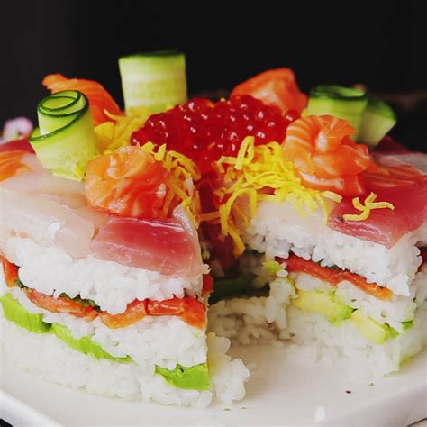 siege social sushi shop celebration sushi cake recipe tastemade