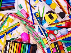 Background of school supplies. — Stock Photo © poznyakov ...