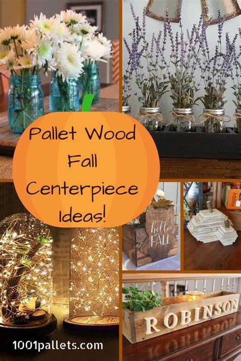 pallet fall centerpiece ideas   brighten