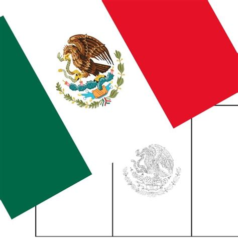 FREE Printable Mexico Flag & color book pages | 8½ x 11