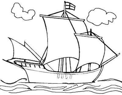 Mayflower Ship Coloring Page - Castrophotos