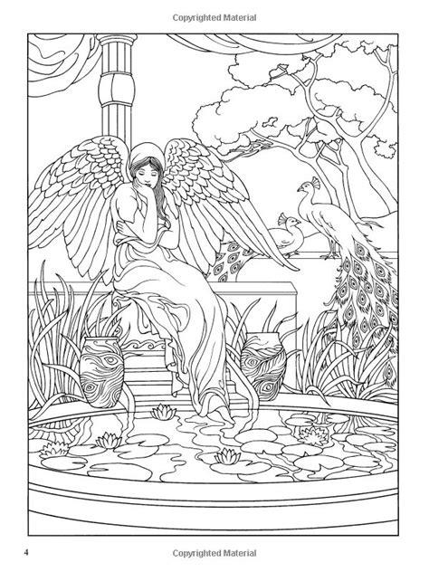 angels coloring book dover coloring books marty noble