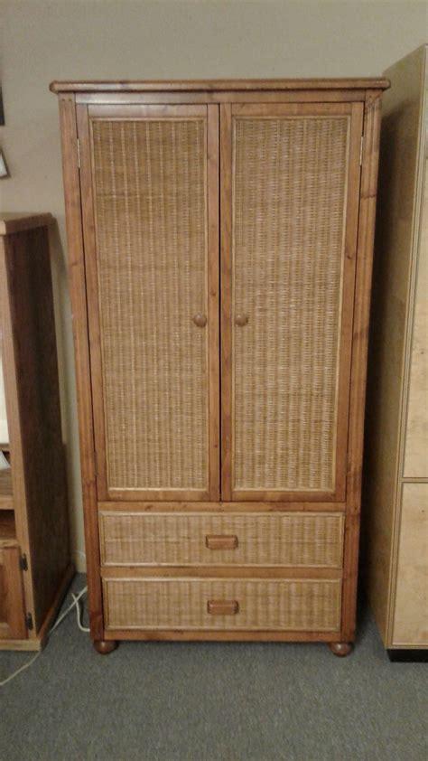 wicker wood wardrobearmoire delmarva furniture consignment