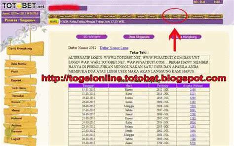 pasang shio  togel  totobetnet panduan  daftar totobet