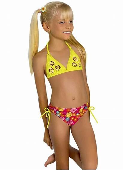 Child Ru Bikini Swimsuit Young Models Swimwear