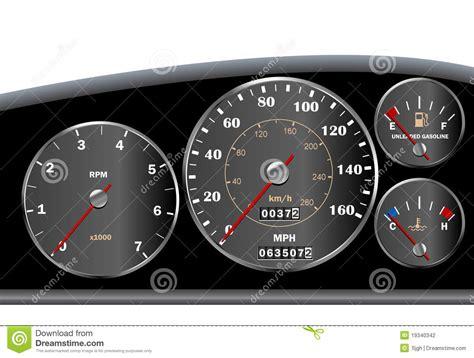 Car Dashboard Speedometer For Motor Or Sportscar Stock