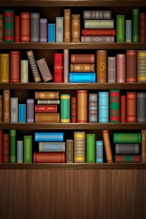 Bookcase Wall Paper by Bookshelf Wallpaper Iphone Wallpapers