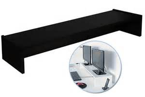 dual monitor stand for ikea galant desk dark brown