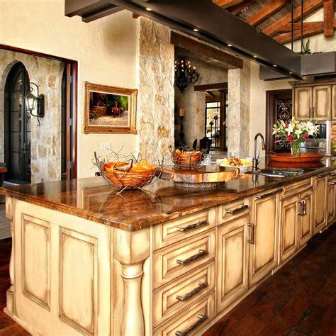 brown granite rustic kitchen optimized