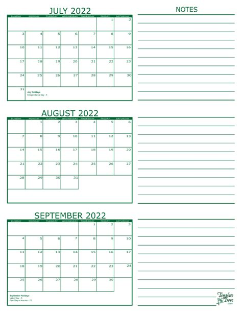 Three Month Calendar Template Trove by 3 Month Calendar 2022