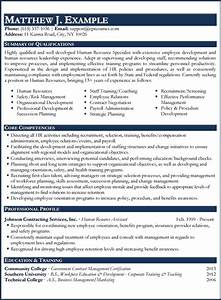 Human Resource Sample Resume Examples