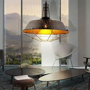 Lampe Salle A Manger : suspension del luminaire plafond lampe m tal noir cuivr salle manger cuisine ebay ~ Teatrodelosmanantiales.com Idées de Décoration