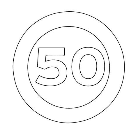 Verkeersborden Kleurplaat by Leuk Voor Maximum Snelheid 50 Km Per Uur