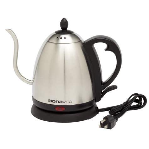 electric kettle tea water kettles gooseneck bonavita stainless boil