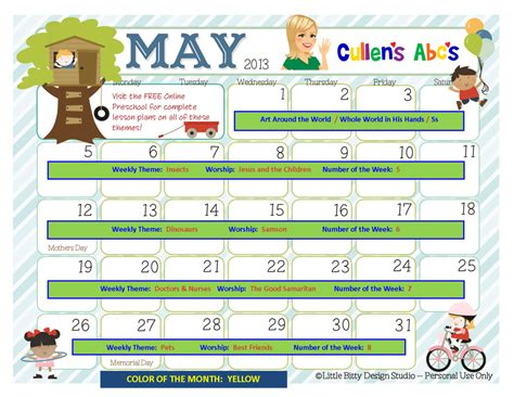 preschool calendars christian children activities 478 | May 2013 Calendar 1024x791