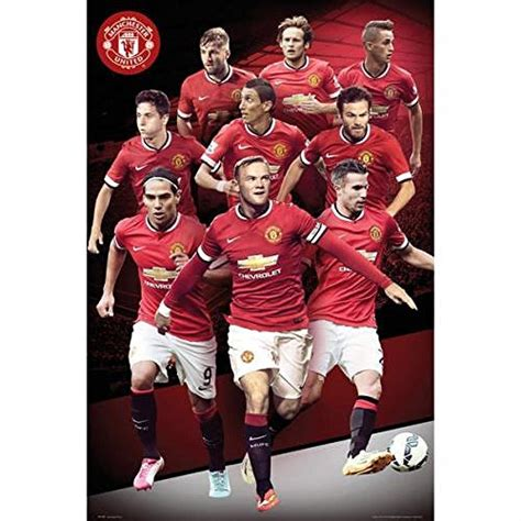 cool gifts for football fans gift ideas official manchester united fc players poster