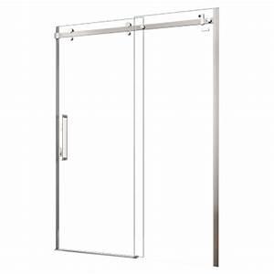 porte de douche coulissante sans cadre halo 60quot x 78quot rona With porte de douche rona