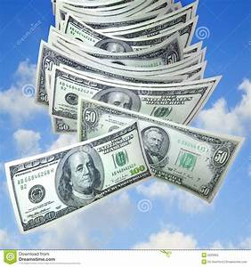 Money falling from sky stock image. Image of dollar ...