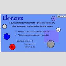 Elements And Compounds Flipped Lesson Youtube