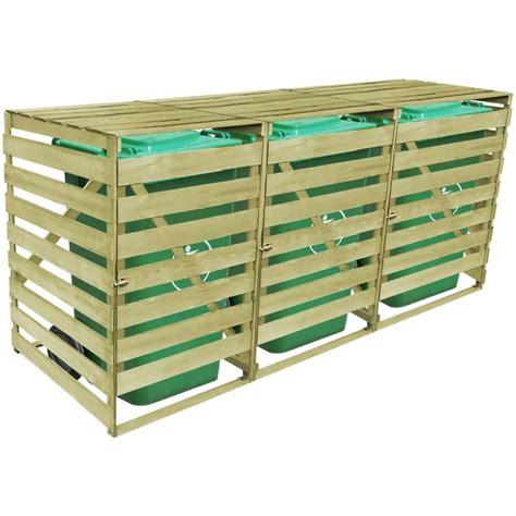 mülltonnenbox holz 3 tonnen der vidaxl m 252 lltonnenbox 3 tonnen impr 228 gniertes holz 240 l