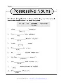 noun printable worksheets 15 best images of free possessive nouns printable worksheets plural possessive nouns