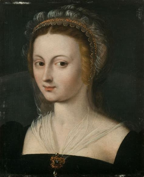 School Of Fontainebleau French 16th Century Portrait Of A
