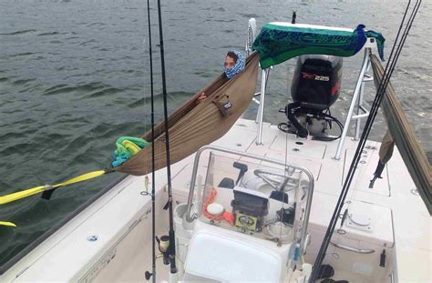 Boat Tower Hammock by Diy Skiff Hammock For Cing And Fishing Overnight Trips