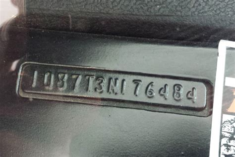 Chevrolet Number by Da Vin Code Deciphering The Vehicle Identification Number