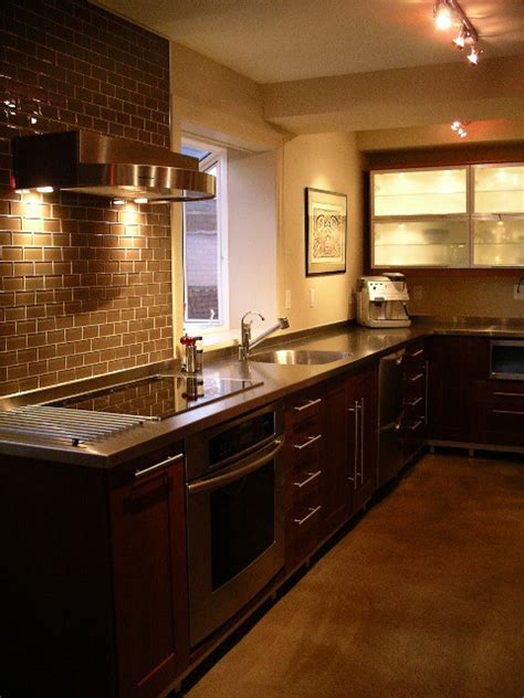 stainless steel bathroom countertops stainless steel countertop by ridalco kitchen