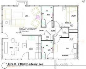 2 Bedroom Cottage Floor Plans