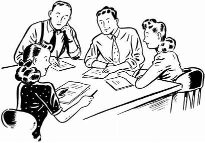 Clipart Meeting Staff Present Office Tense Progressive