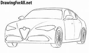 how to draw an alfa romeo drawingforallnet With alfa romeo drawings
