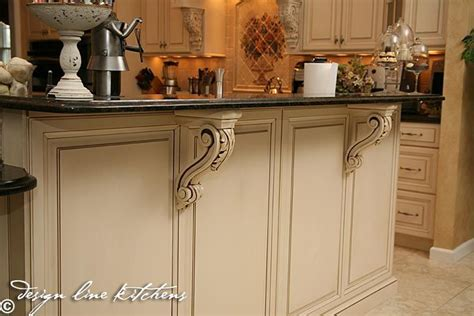 kitchen island with corbels corbels in the kitchen kitchen ideas