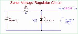 Zener Diode Voltage Regulator Circuit