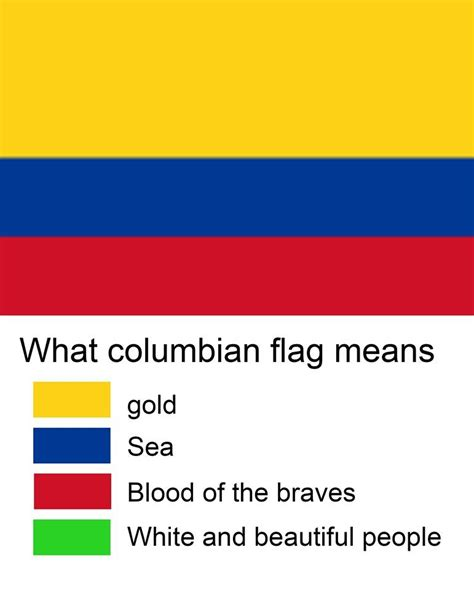 color representation colombia is white flag color representation parodies