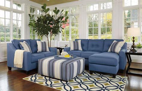 Living Room Furniture Blue by Aldie Nuvella Blue Living Room Set Benchcraft 2 Reviews