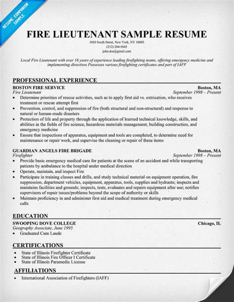 Firefighter Promotion Resume Exles by Lieutenant Resume Quotes