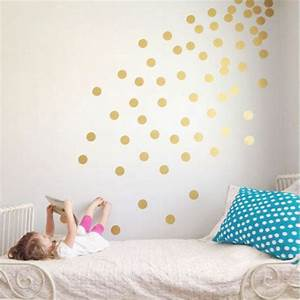 Goldene Punkte Wand : wandtattoos f r kinderzimmer eine super idee ~ Michelbontemps.com Haus und Dekorationen
