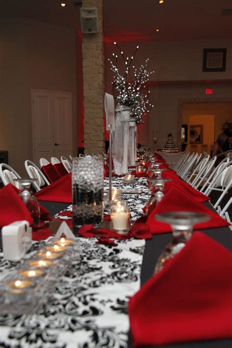 31 Best Red Black Silver Wedding Theme Images On Pinterest