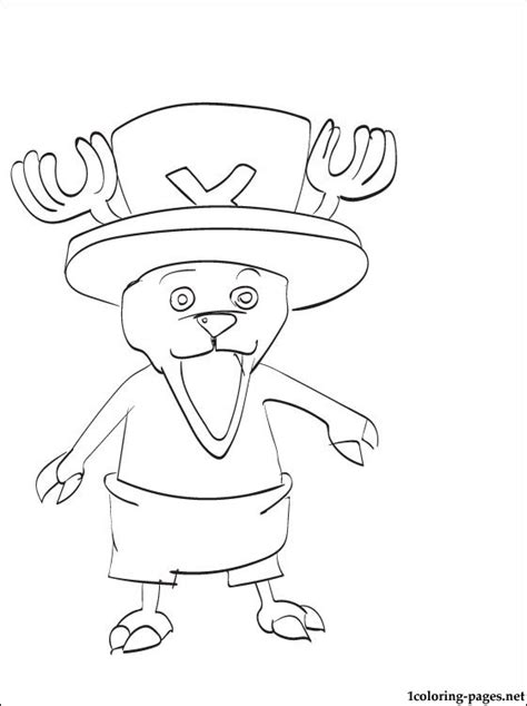 coloring page tony tony chopper  piece coloring pages