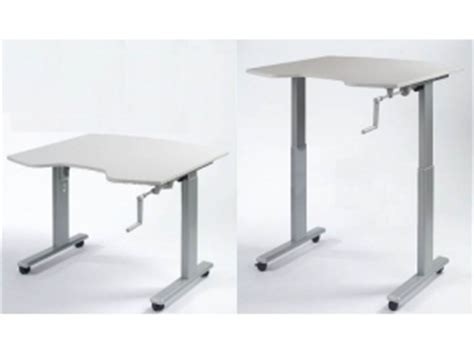 bureau assis debout manuel
