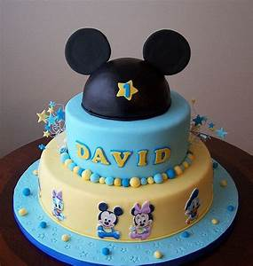 Baby Mickey and friends cake | Birthday ideas | Mickey 1st ...
