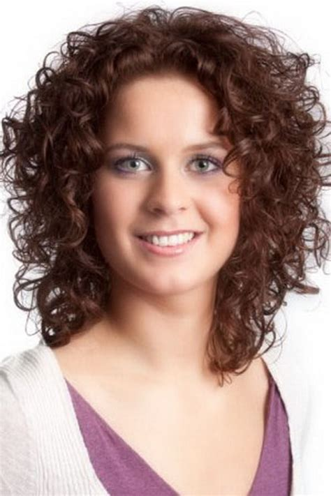 sensational medium length curly hairstyle  thick hair