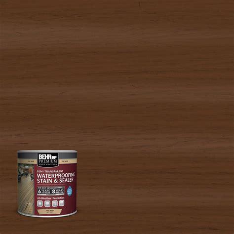 behr premium  oz st  chocolate semi transparent