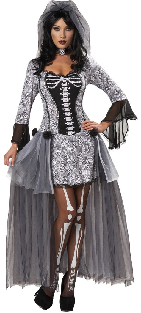 womens skeleton bride costume costumepubcom