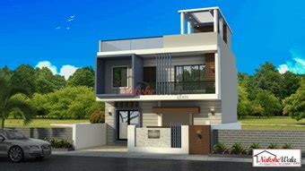 double storey elevation  storey house elevation  front view