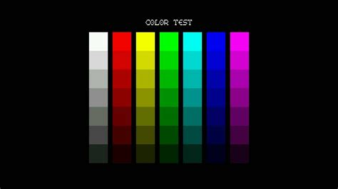the color test columns color test screen for testing hd 1080