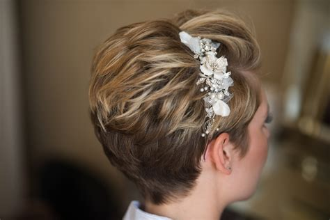 wedding hair styles  short hair wedding