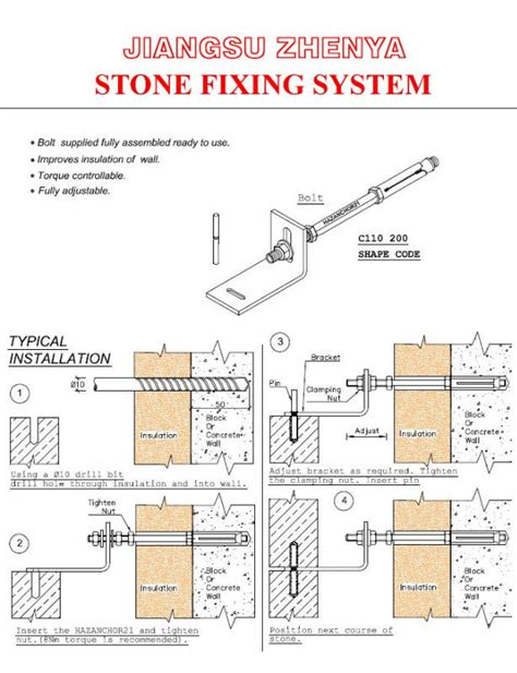 fixing system cladding fixing system anchoring
