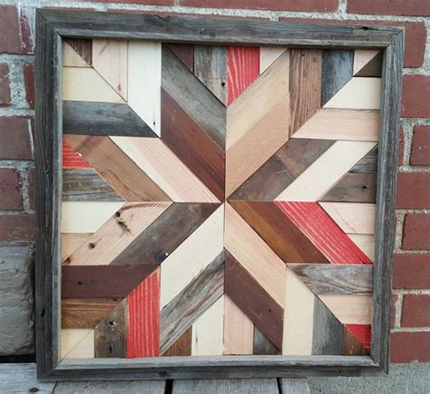 wooden barn quilts for rustic barn quilt made from reclaimed barn wood